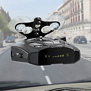 radar laser detector with voice alert by cobra