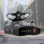 radar laser detector with text display by cobra