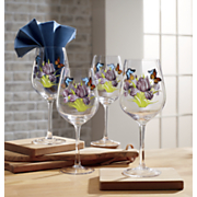 4 piece butterfly stemware set