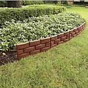 Brick-Style Garden Fence