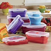 16 piece collapsible flex time food storage containers
