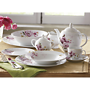 47 pc rose bouquet dinnerware set