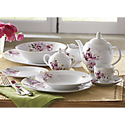 47-Piece Rose Bouquet Dinnerware Set