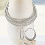 Wire-Wrap Hoops and Coil Necklace