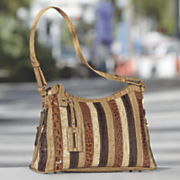 Mika Striped Handbag by Marc Chantal