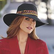 Hat with Band & Decorative Yarn
