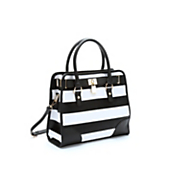 wide stripe bag