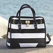 wide stripe bag
