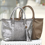 woven east west tote