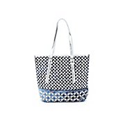 bling denim tote
