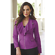 stretch cotton bright jacket