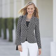 patterned blazer 41