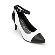Black Toe Ankle Strap by Monroe and Main