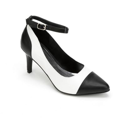 Black Toe Ankle Strap by Monroe & Main