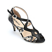 snakeskin heeled sandal by monroe and main