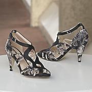 snakeskin heeled sandal by monroe and main