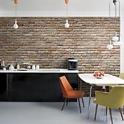 stone or brick mural