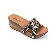 metallic beaded wedge slide by monroe and main