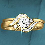 Postpaid Round Cluster/Swirl Bridal Set