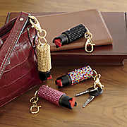 bling pepper spray with keychain