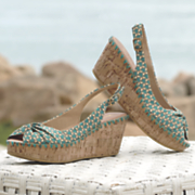 gipsy slingback wedge by restricted