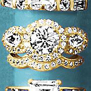 round pear halo bridal set