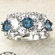 5 stone round ring