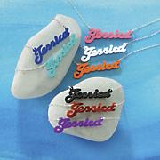 acrylic name pendant