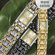 personalized cross bracelet watch