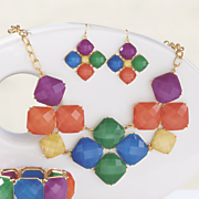 multicolored faceted necklace