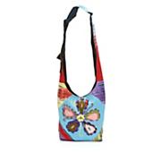 peace flower sling bag