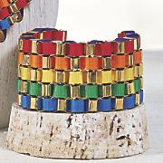 multicolor ribbon weave bracelet
