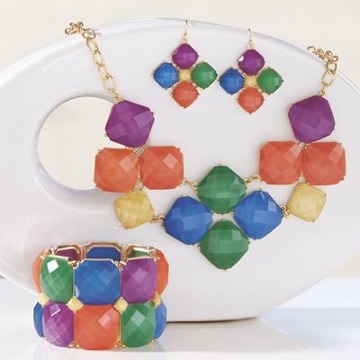 Multicolored Faceted Jewelry