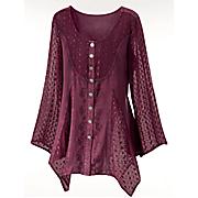 flutter sleeve peasant blouse