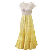 sunshine floral eyelet dress