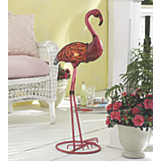 captured glass flamingo lamp