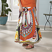 feather print skirt 1