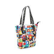 mod marvel hand painted leather tote