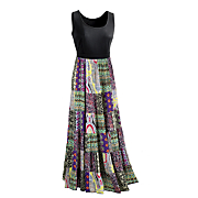 lillith patchwork dress