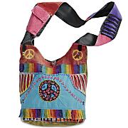peace rainbow sling bag