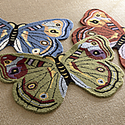 hand tufted butterfly rug