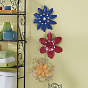 3 piece multicolor wall flower set
