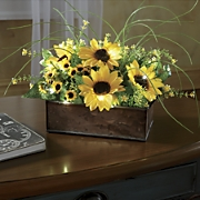 sunny and bright lighted floral centerpiece