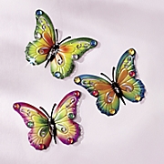 3 piece jeweled butterfly set