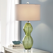 Emerald City Glass Table Lamp