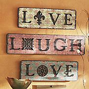 3-Piece Live, Love, Laugh Wall Art Set