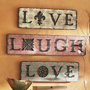 3 piece live love laugh wall art set