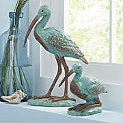 set of 2 blue ibis cranes