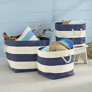 3 piece nautical basket set