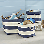 3 piece nautical basket set